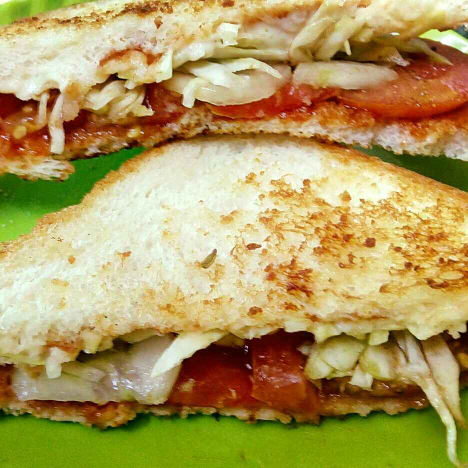 Photo of Butter vegetable sandwich by Sakshi Goswami at BetterButter