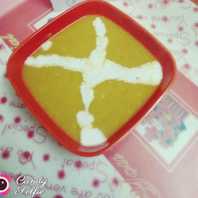 How to make हरे मटर टमाटर बादाम सूप