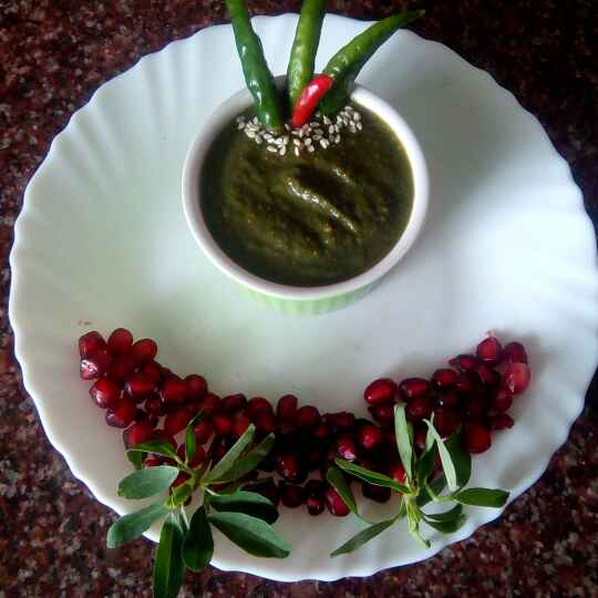 Photo of Dhania or methi ki chutney by Saloni Bansal at BetterButter