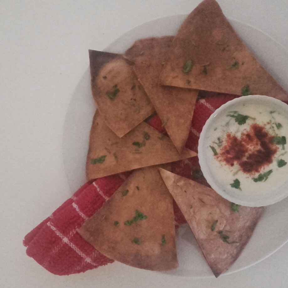 Photo of Tortilla chips with creamy dip by saman zuberi at BetterButter