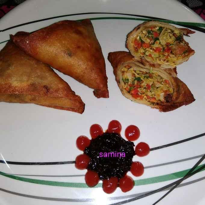 Photo of vej cheese  paneer samosa by samina shaikh at BetterButter
