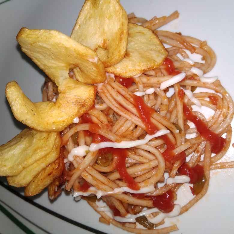 Photo of Potayto Capsicum Noodles by samina shaikh at BetterButter