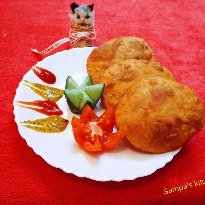 Photo of Gram flour stuffed Kachouri by sampa sardar at BetterButter