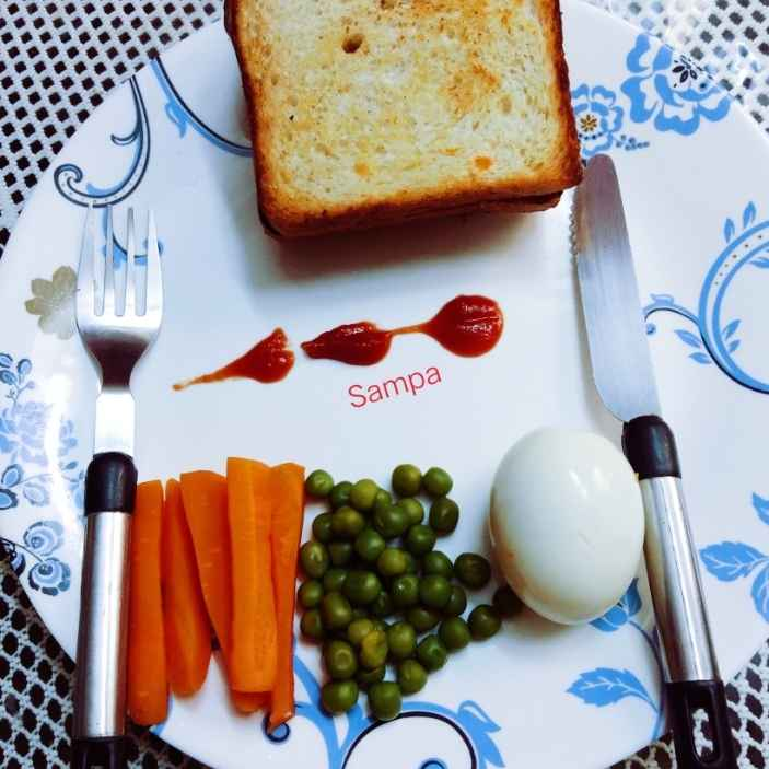 Photo of Bread toast with boilled egg and vegies by sampa sardar at BetterButter
