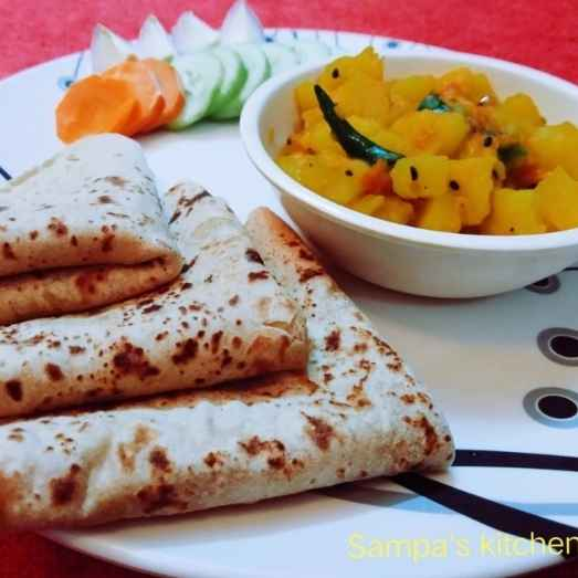 Photo of Chapati and potato curry by sampa sardar at BetterButter