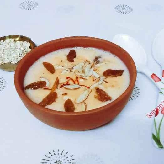 Photo of Jafrani( kesri) oats payesh(kheer) by sampa sardar at BetterButter