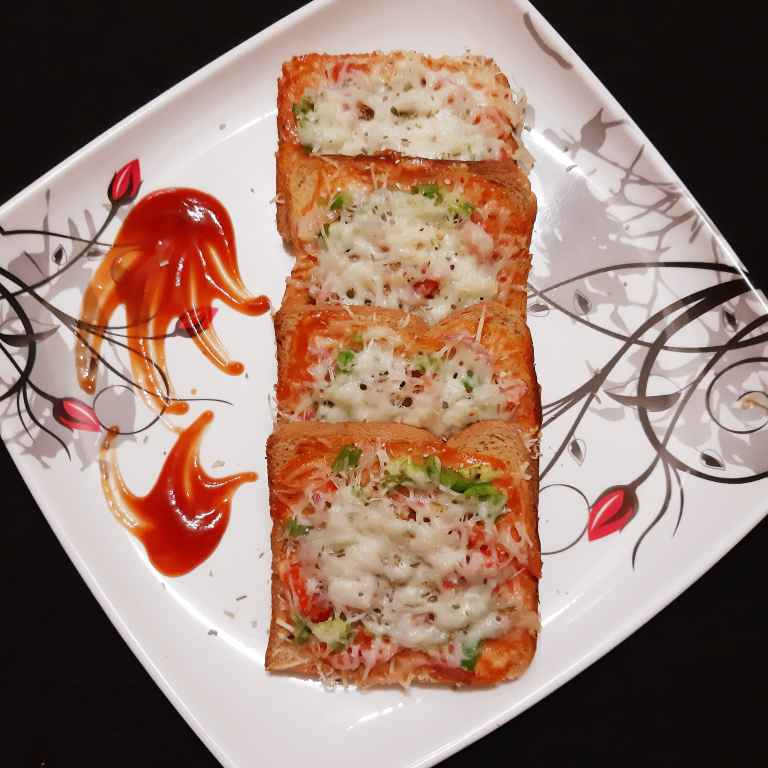 Photo of Bread pizza by Sampurna Sarkar at BetterButter