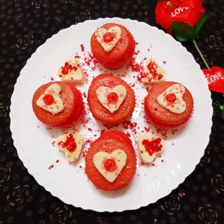 Photo of Red Velvet cup cake by Sampurna Sarkar at BetterButter