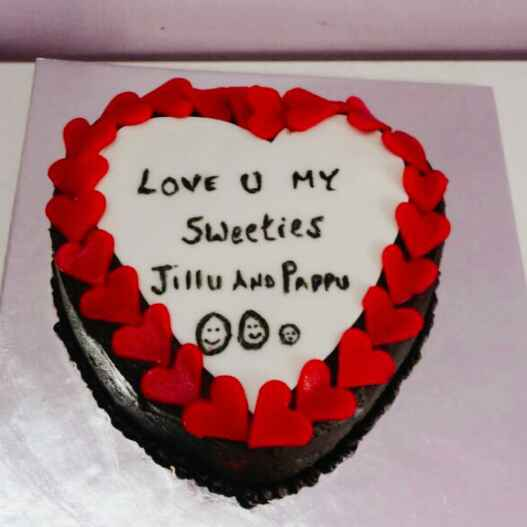 Photo of Lup Tup heart beat red velvet cake by Samu Esh at BetterButter