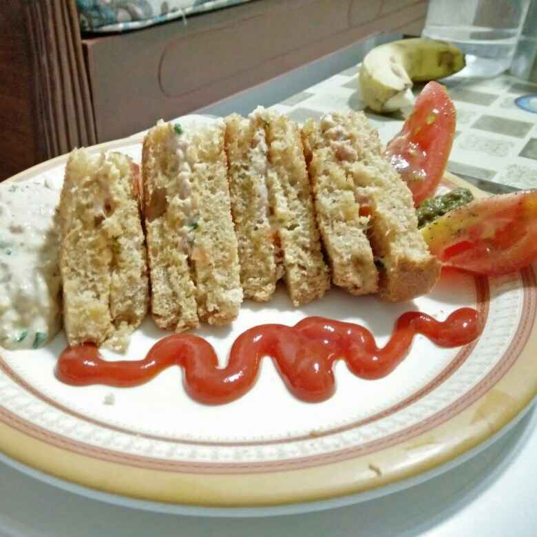 Photo of Tuna Coleslaw Toast by sana Tungekar at BetterButter
