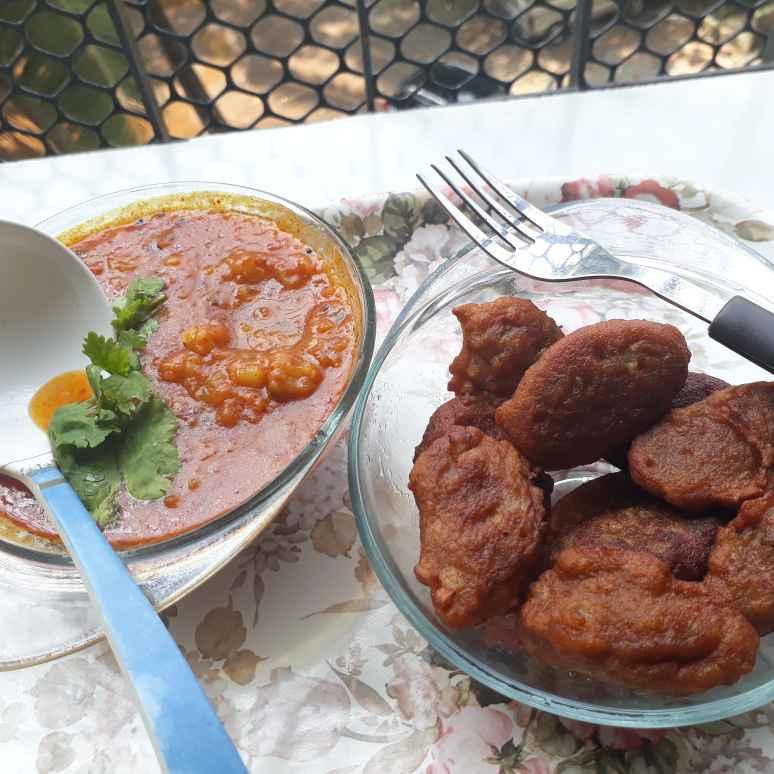 How to make Singhada flour Fritters with Potato chutney
