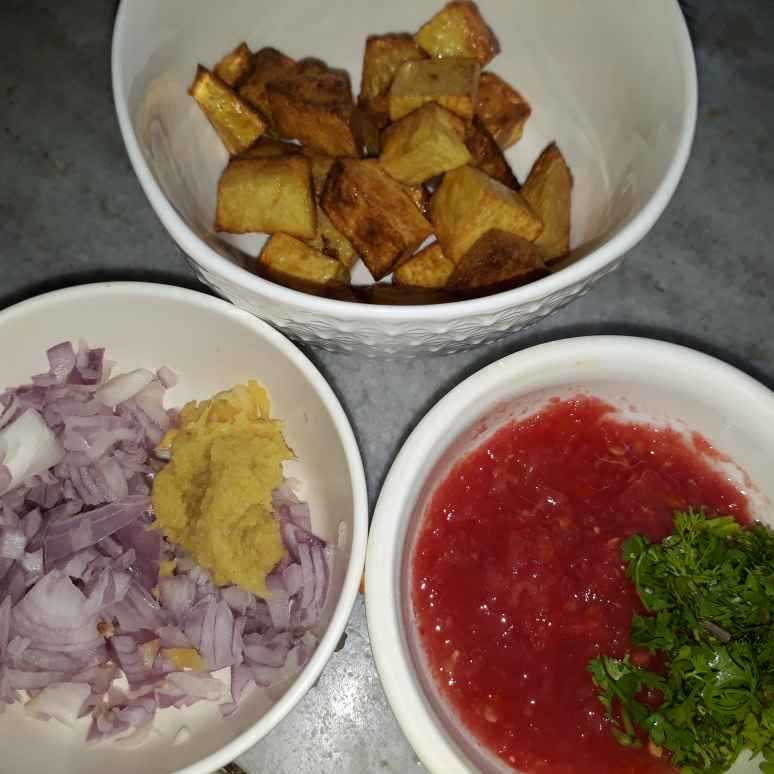 How to make Yam fry Masala