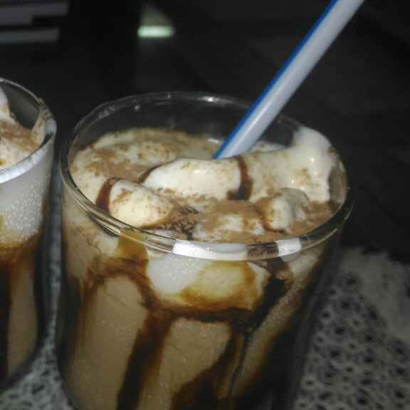 Photo of Cold coffee with ice cream by Sananda Bhattacharyya at BetterButter