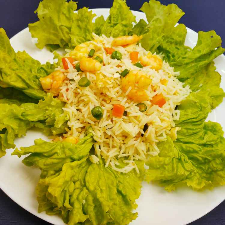 Photo of Prawn fried rice in lettuce by Sananda Bhattacharyya at BetterButter
