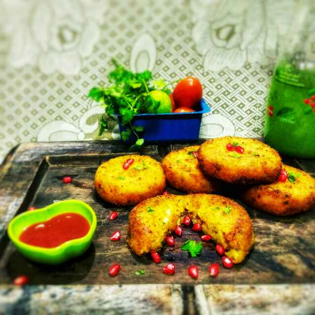 Photo of Disc-O-fruit chat cutlet by Sanchari Karmakar at BetterButter
