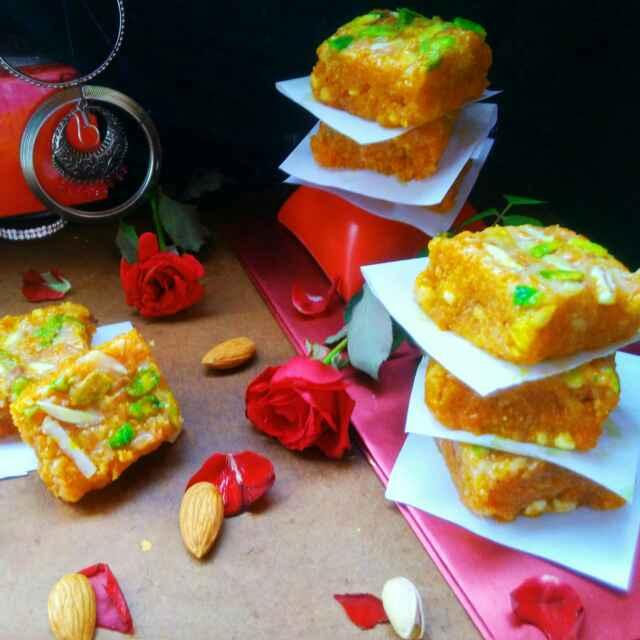 Photo of Carrot chocolaty fudge by Sanchari Karmakar at BetterButter