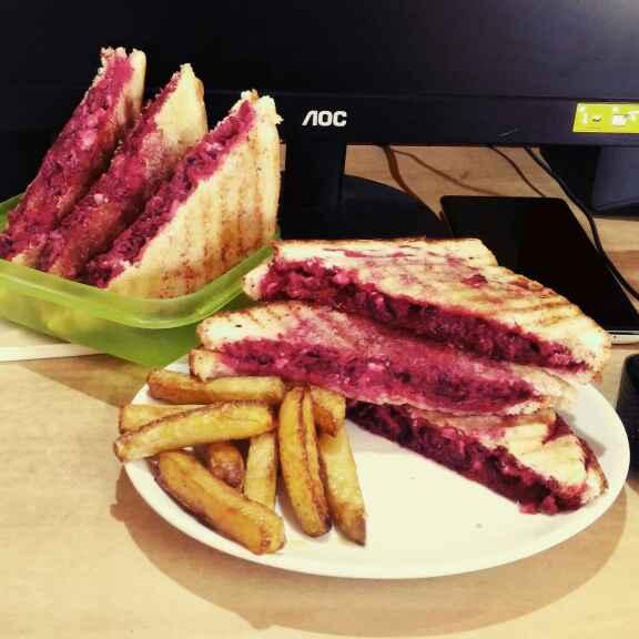 Photo of Pink wink sandwich by Sanchari Karmakar at BetterButter
