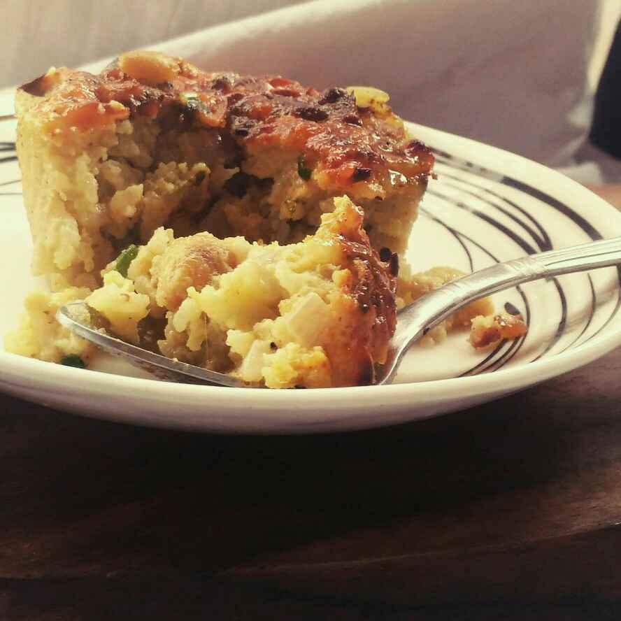 How to make Tangy cheesy rice muffins(biriyani flavour)
