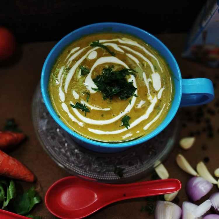 Photo of Roasted pumpkin carrot soup by Sanchari Karmakar at BetterButter