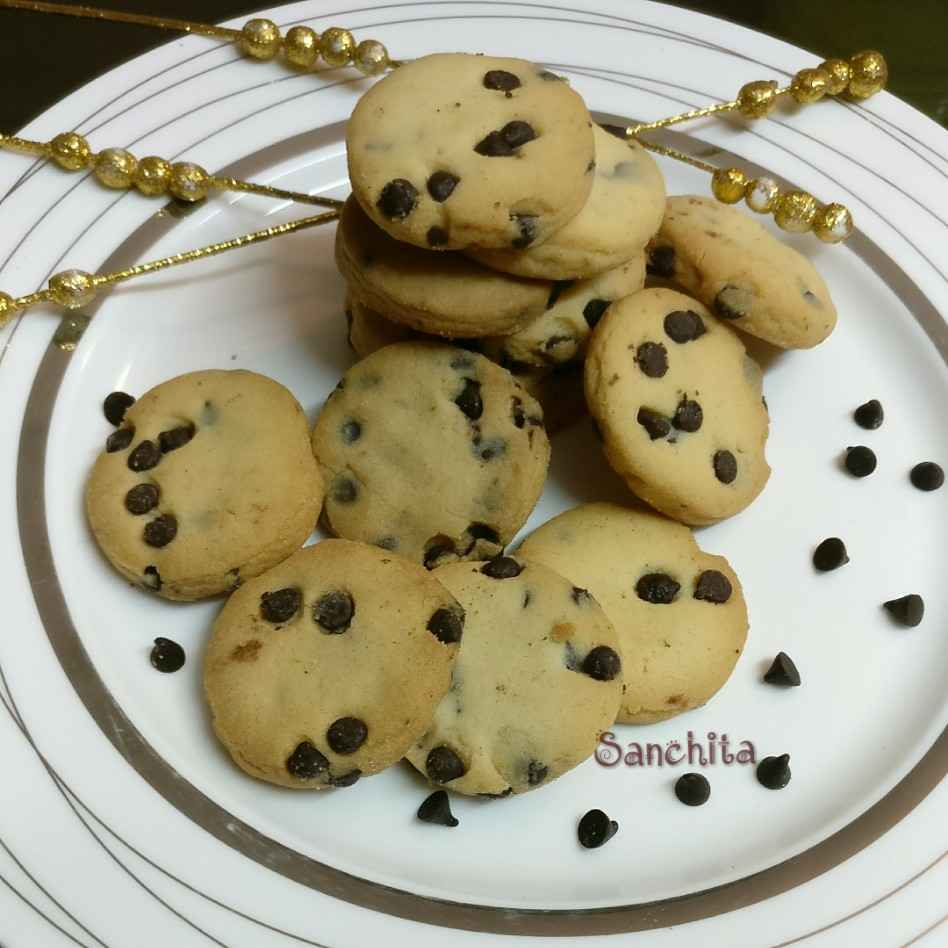 Photo of Banana choco chip cookies by Sanchita Agrawal Mittal at BetterButter