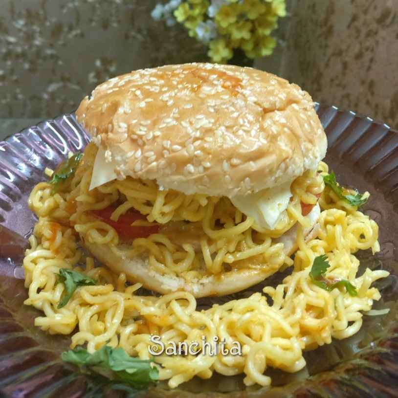Photo of Maggilicious Veg Burger by Sanchita Agrawal Mittal at BetterButter