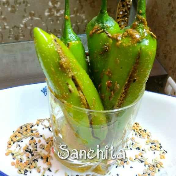 Photo of Moti Hari Mirch Ka Achaar / Fat Green Chilli Pickle by Sanchita Agrawal Mittal at BetterButter