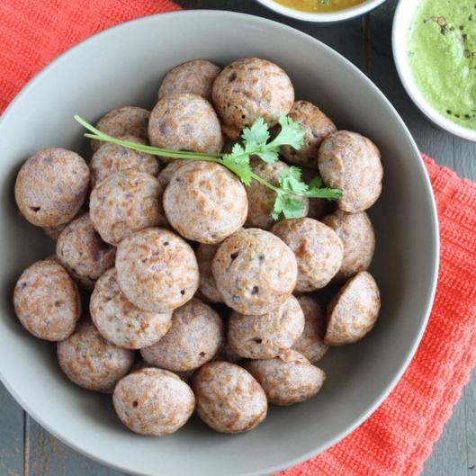 How to make Ragi Kuzhi Paniyaram with left over Dosa Batter