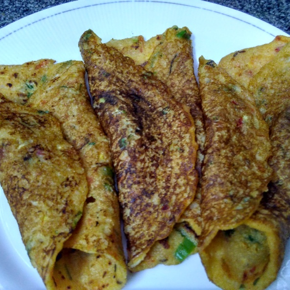 How to make Sooji Besan Pancakes