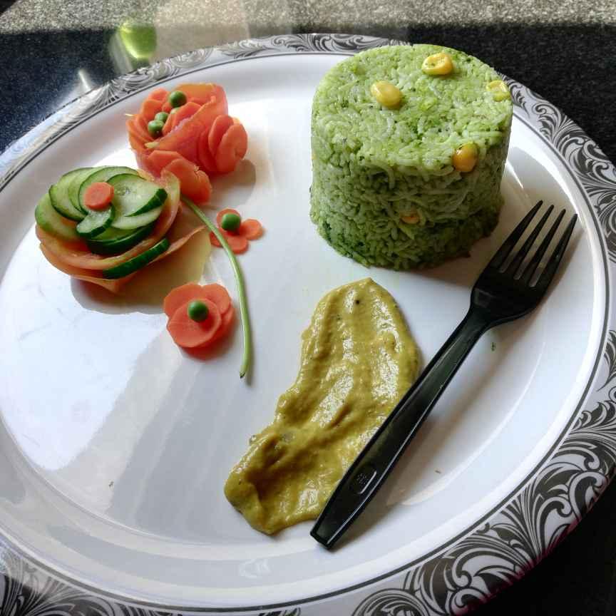 How to make పాలక్ రైస్