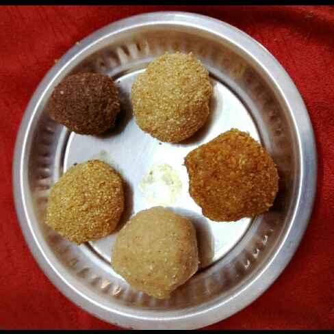 Photo of 5 types  sweet balls-foxtail, barnyard, peanut, urad dal, sesame balls by sandya Raj at BetterButter
