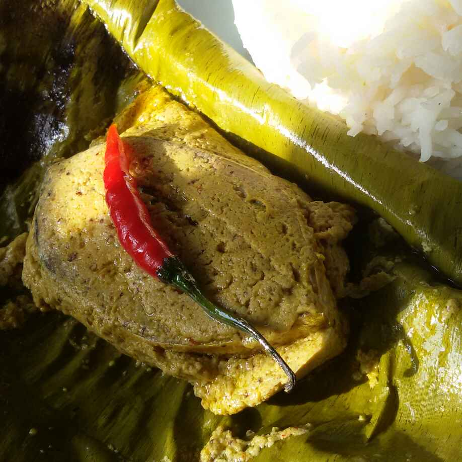 How to make Ilish (Hilsa)paturi (Hilsa fish cooked in Coconut and mustard paste)