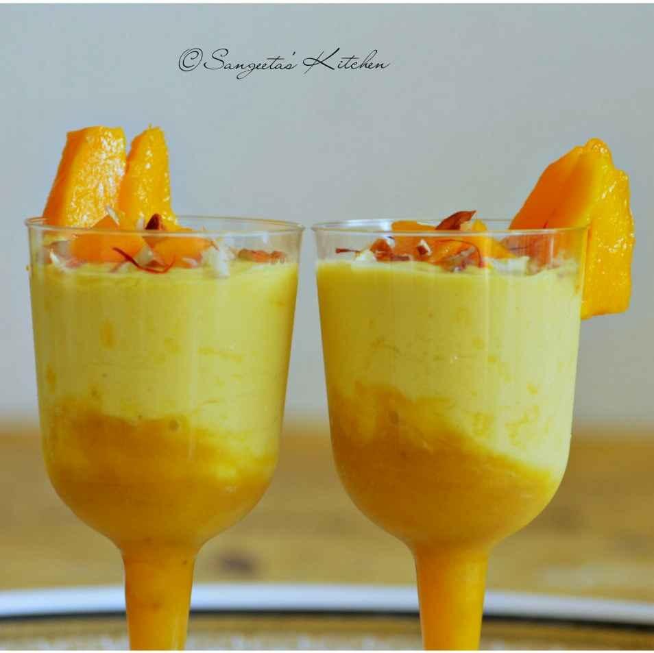How to make Eggless Mango Banana Mousse(no gelatin no agar agar)