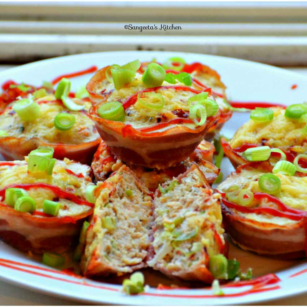 How to make Cheesy chicken in bacon basket