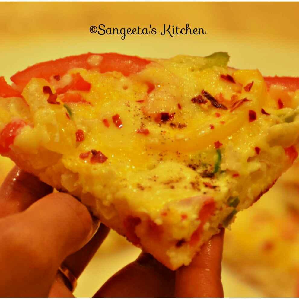 Photo of Cheesy Egg Uttapam by Sangeeta Basak at BetterButter