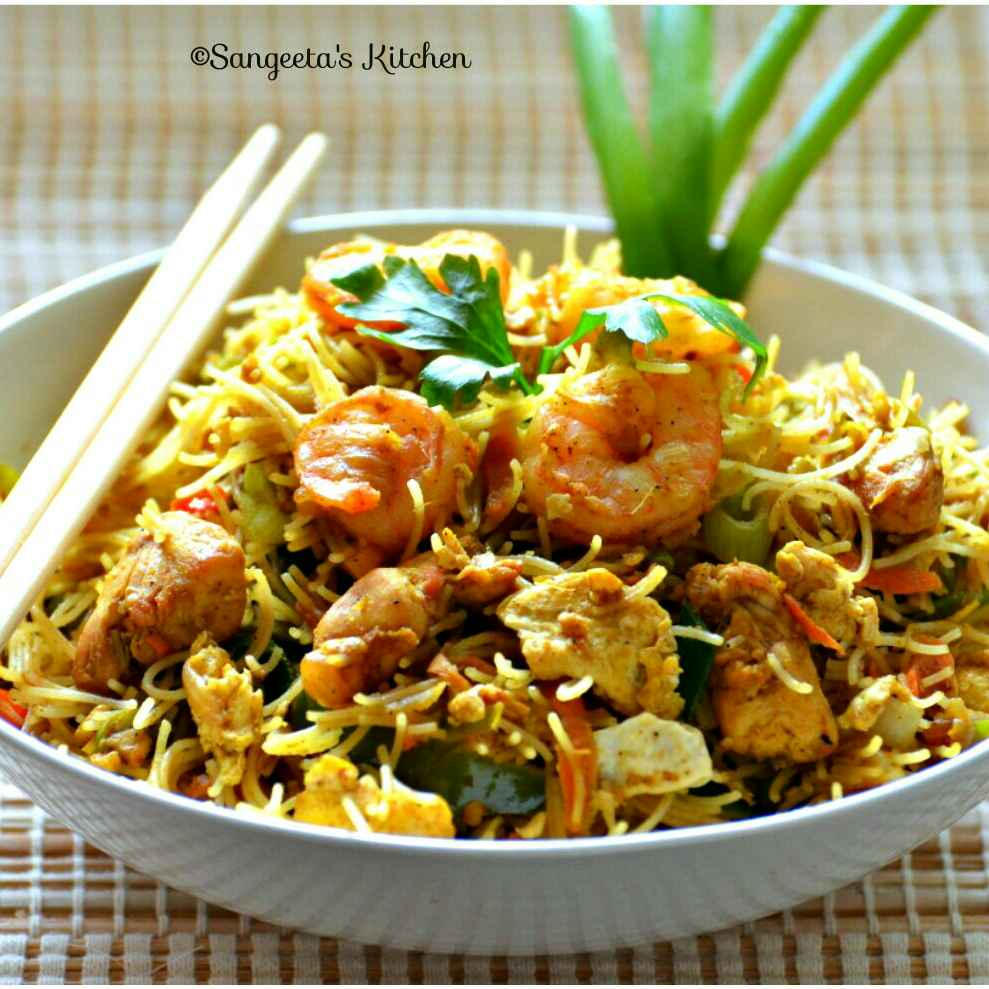 How to make Singapore Fried Rice Vermicelli Noodles