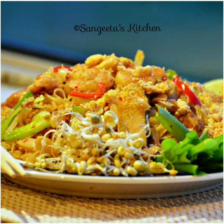 Photo of Pad Thai(Non-veg Thai fried noodles) by Sangeeta Basak at BetterButter