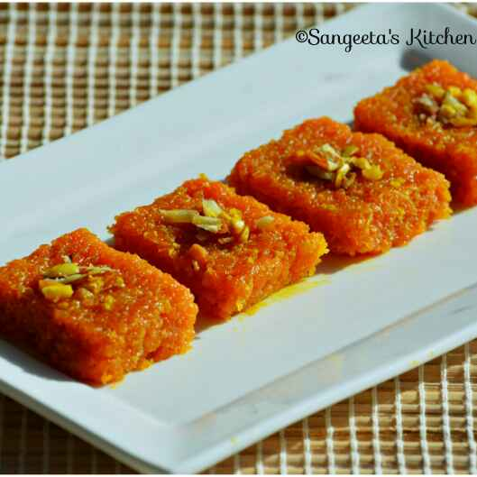 Photo of Carrot Barfi by Sangeeta Basak at BetterButter