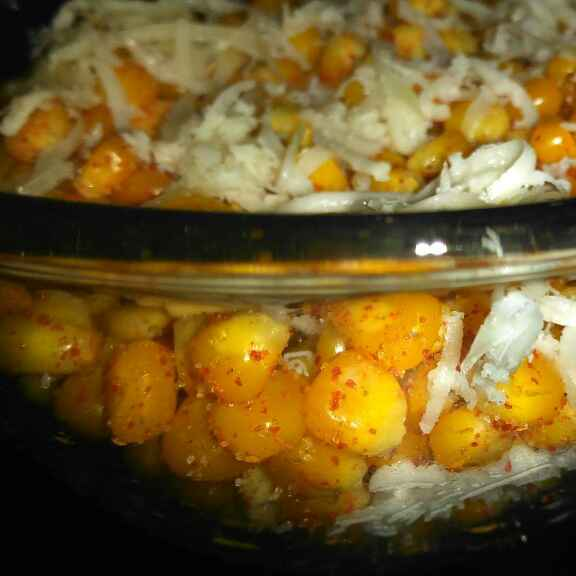 How to make Corn panir bhel