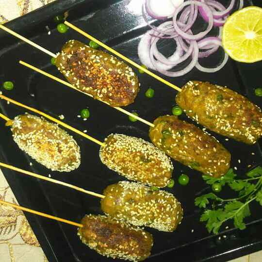 How to make Paneer matar seek kabab
