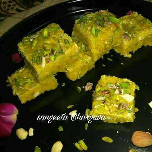 Photo of Sev puding barfi by Sangeeta Bhargava . at BetterButter