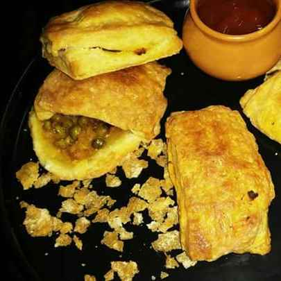 Photo of Puff pastry stuffed with matar  by Sangeeta Bhargava . at BetterButter