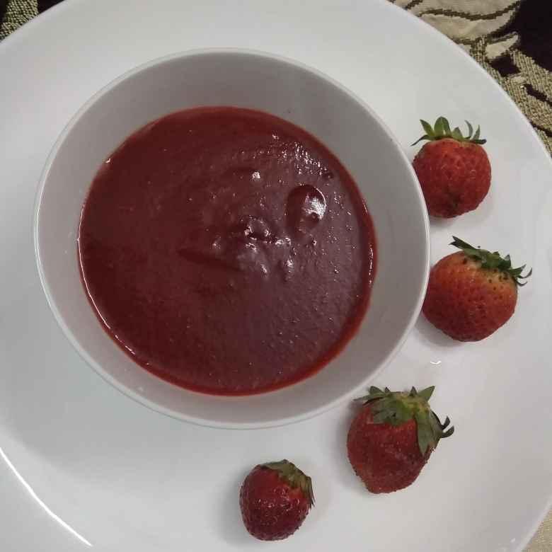 How to make स्ट्राबेरी सॉस