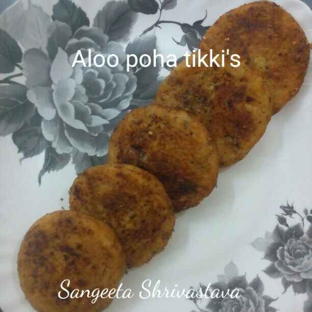 Photo of Aalu poha tikki by Sangeeta Shrivastava at BetterButter