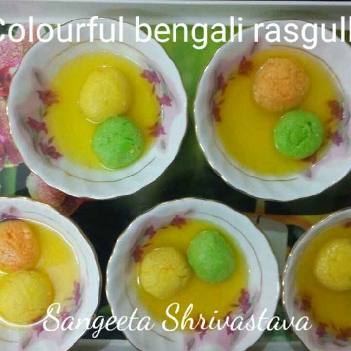 How to make Colourful bengali rasgulle