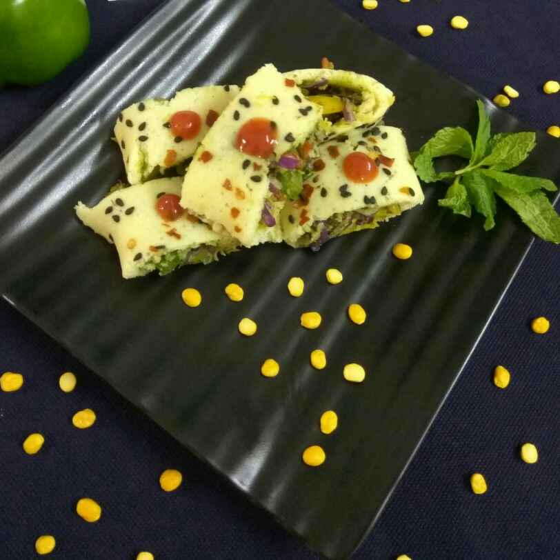 Photo of Dal dhokla sushi roll by Sangita Jalavadiya at BetterButter
