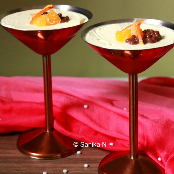 How to make Orange Posset with Chocolate Caviar