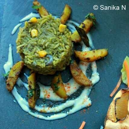 Photo of Spinach - Corn Rice by Sanika SN at BetterButter