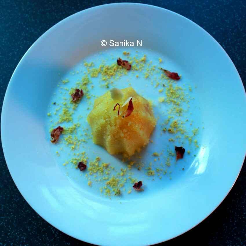 Photo of Saffron-Rose Sooji Halwa by Sanika SN at BetterButter