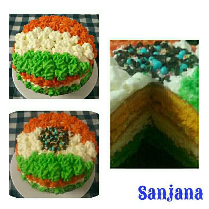 How to make Tri Colour Cake