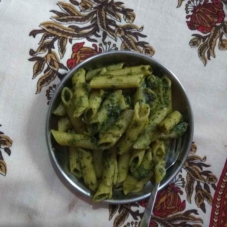 How to make धनिया सॉस में पास्ता